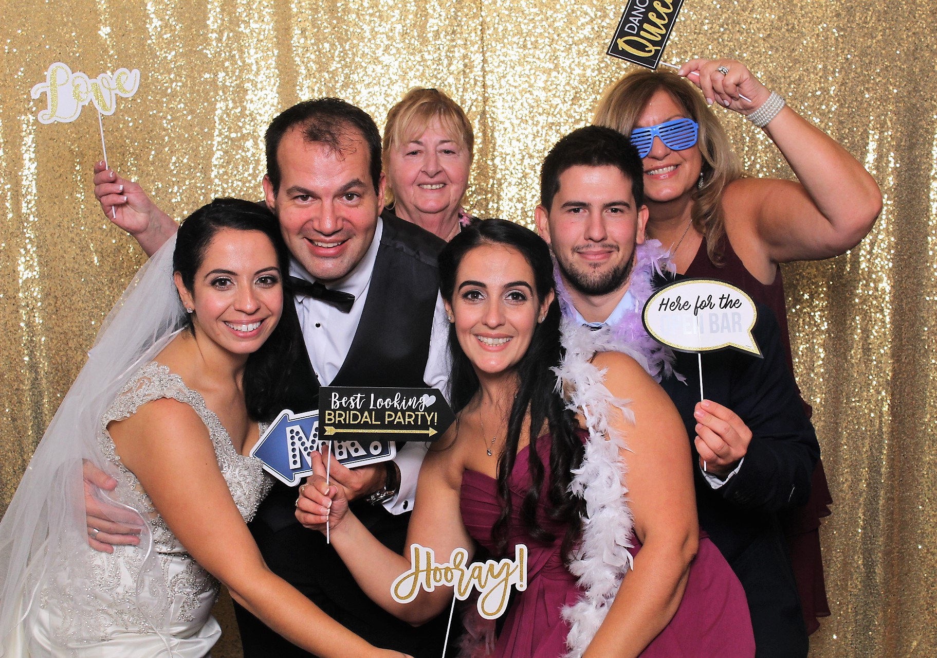 andover country club, destination wedding photo booth
